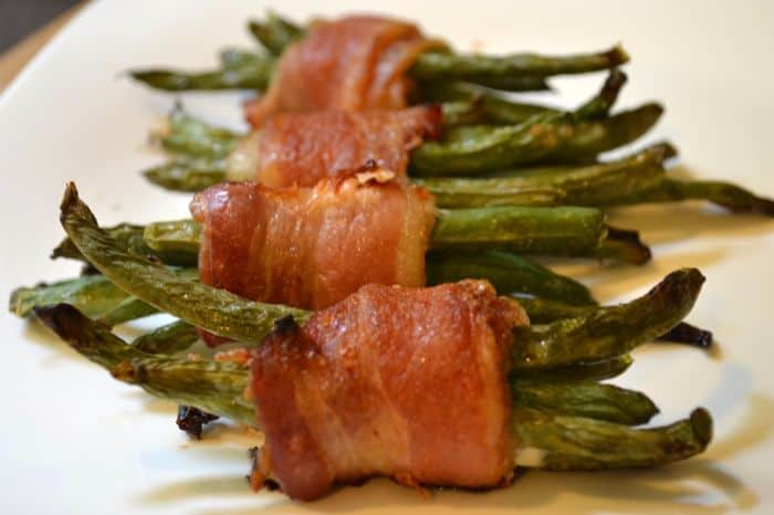 Maple Bacon Wrapped Green Beans