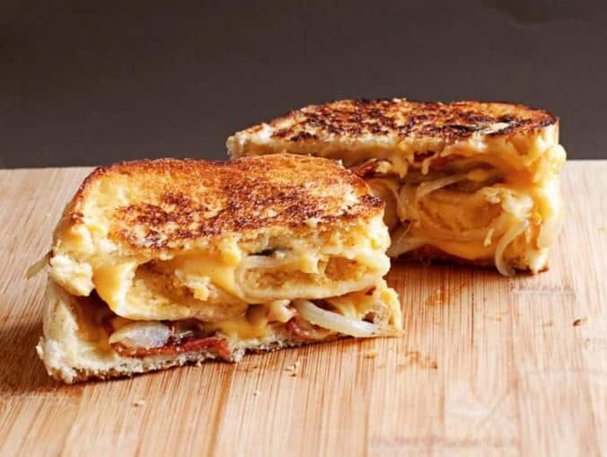 Perogie Grilled Cheese