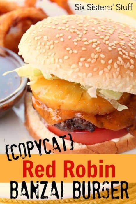 Red Robin's Banzai Burger Copycat