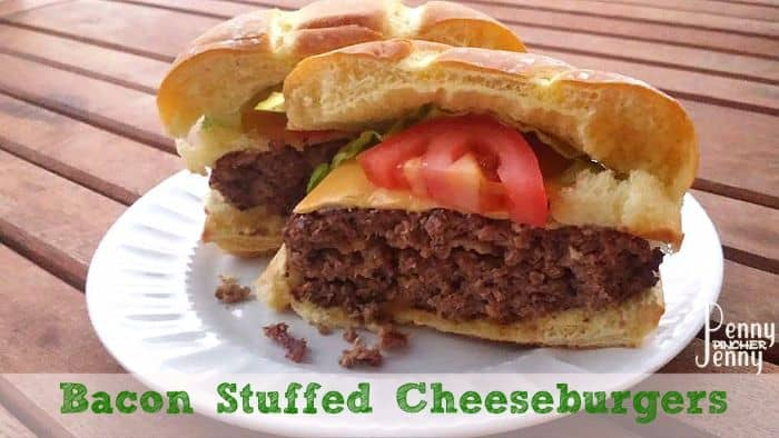 Bacon Stuffed Cheeseburgers