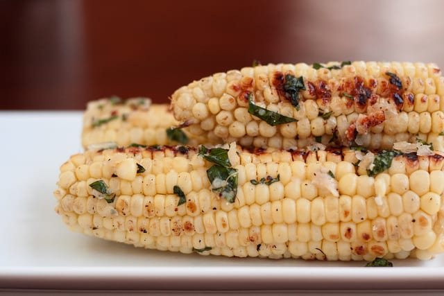 15. Corn on the Cob with Basil Parmesan Butter